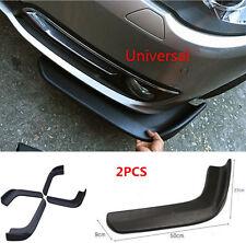 2PC Car Bumper Spoiler Twist Anti-Scratch Splitter Diffuser SUV ABS Front Shovel