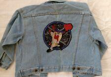 Vintage 90s Looney Tunes Womens size 6 M jean jacket Taz playing baseball