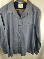 KATHMANDU 'Enact' Blue Striped Casual Button-Up Long Sleeve Shirt - Mens Size XL