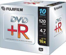 1x10 Pack Fuji DVD + R writeonce 4.7gb 16x 120min Jewel Case NUOVO (World *) 000-910