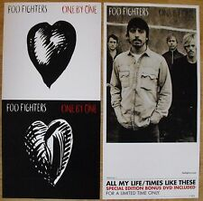"""Foo Fighters One By One Promotional Double-sided Flats Lot 12"""" x 24"""" Dave Grohl"""