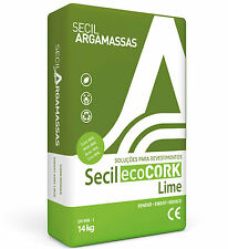 Secil ecoCORK Insulating Lime Plaster / Render Breathable with natural cork 14kg