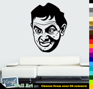Mr Bean / Rowan Atkinson Vinyl Wall Art Sticker Decal Various Colors + FREE P&P