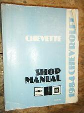 1984 CHEVROLET CHEVETTE FACTORY SERVICE MANUAL SHOP REPAIR OEM
