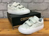 CONVERSE UK 4 EU 20 ONE STAR OX 2V GREY TRAINERS GIRLS CHILDRENS LG