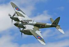 "Model Airplane Plans (UC): DH Mk-VI Mosquito 1/16 Scale 38"" .15s - retractable"