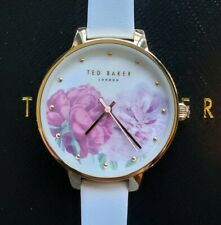 Ted Baker TE50005028 Watch With 36mm Floral Perl Face & OffWhite Leather Band