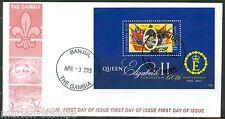 GAMBIA 2013 QUEEN ELIZABETH II 60th ANNIVERSARY CORONATIONS S/S PART I FDC