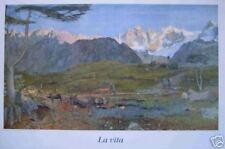 Segantini : La Vita - Leben   - Kunstdruck 65 x 96cm