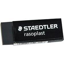 3 X Staedtler Rasoplast Black Plastic Rubber Erasers 526 B20 9