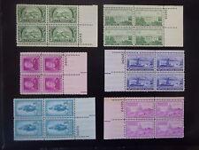 1950 Plate Block Set Complete #987-997  11 Blocks  MNH
