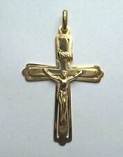 9ct Gold Large Crucifix on flared Cross Pendant 3.3g