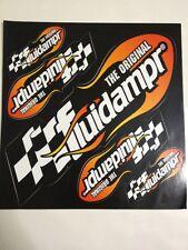 THE ORIGINAL FLUIDAMPR RACING DECALS 1 Sheet Of 5 Stickers