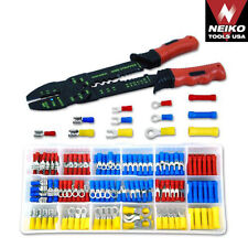 175PC ELECTRICAL WIRE STRIPPER CRIMPING CRIMPER TOOL KIT SOLDERLESS TERMINAL