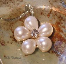 4 x Botones de perla y diamantes de imitación imitación Daisy, 23mm, Flatback