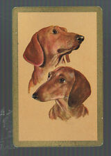 Playing Swap Cards  1 VINT EARLY  U.S.  PAIR OF DOG  HEADS W323 L@@K