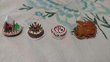 Dollhouse Miniature Christmas Cakes and Turkey