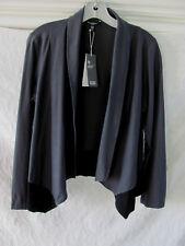 Eileen Fisher Drape Front Jacket-Washable Stretch Crepe-Graphite-Sze PL NWT $238