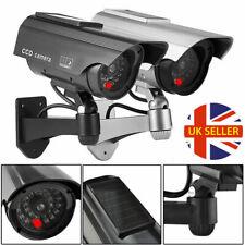 Dummy Camera Solar CCTV Security Surveillance Cam Fake Red Indoor/Outdoor IR LED