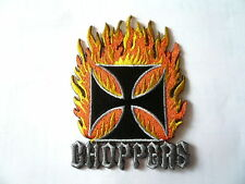 Choppers,Harley,Patch,Aufnäher,Aufbügler,Badge,BikerIron Cross,Old School
