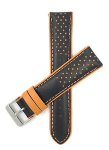 Bandini Vented Racer Leather Watch Band, GT Rally, 5 Colors, 18mm 20mm 22mm
