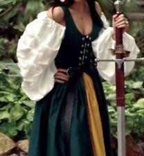 Renaissance Irish Hunter Green & Yellow Costume Dress & Skirt Only Waist 33-35�
