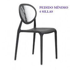 Silla modelo Super Gio, antracita + transparente, Scab Design