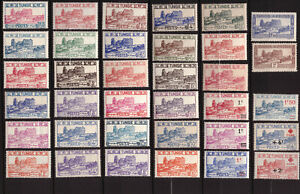 Tunisie - Amphithéâtre -  Lot de 35 timbres neufs **  - cote 50 €