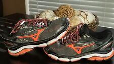 Mizuno Men's Wave Inspire 13 Running Shoes J1GD174455  Black /ORANGE Size 9