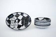 Gerhard Liebenthron, Tellerset aus Keramik mit Schachthema, 1964, Chess, Pottery