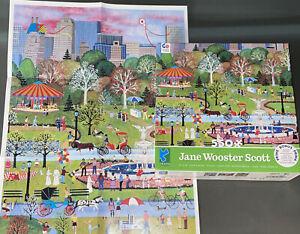 RARE Ceaco Springtime in Central Park Jane Wooster Scott 550 Piece Jigsaw Puzzle