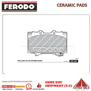 FERODO TQ BRAKE PADS FRONT for TOYOTA LANDCRUISER VDJ76 2007+ 4.5L V8 DB1365FTQ