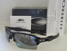 OAKLEY polished black iridium POLARIZED FLAK JACKET 2.0 XL OO9188-08 sunglasses!