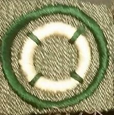 1928-1938 Girl Scout Grey Green Badge SQUARE - LIFE SAVER