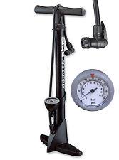 GIYO Bicycle Bike High Pressure Floor Pump with Gauge 160 psi Black