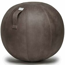 Vluv Veel Lederimitat Sitzball Durchmesser 70-75cm Grau Büroball ergonomisch