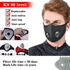 Face Mask With Breath Valve Activated Carbon Mouth Covers Filter Pad Reusable