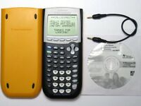 TI-84 Plus Graphing Calculator Texas Instruments YELLOW TI84+ Graphic