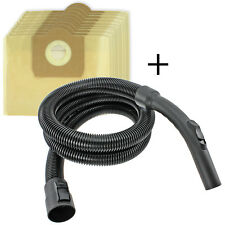 10 Bags + Hose for KARCHER WD3 WD3P WD3.200 WD3.300 WD3.500 WD3.540 WD3.600 MV3