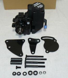 GM Type II Saginaw Power Steering Pump W/ Reservoir With Bracket All Black SBC