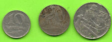 LATVIA LETTLAND LOT OF 3 COINS 10.20 AND 50 SANTIMU 1922s 135