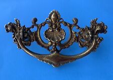 "French Country Rococo Brass Chippendale Antique Hardware Drawer Pull 3""center"
