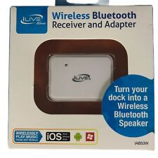 iLive Wireless Bluetooth Receiver and Adapter, BRAND NEW, for 30 Pin iPod Docks