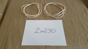 WHITE made in UK 2x 2.30m QED MICRO high TECHNOLOGY speaker CABLE