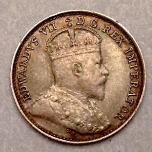 ~1909 Canada  Edward VII  Five 5 Cents