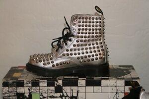Dr. Martens Spike Boots Silver Original Classic Punk Doc Women Shoes Size 6