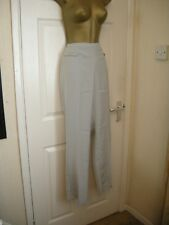 16 Grey slim leg trouser Anne Weyburn La Redoute bow trim summer holidays smart