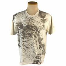 Marc Ecko Star Wars Graphic Print Tshirt Mens Large White Gold 2008 Chewbacca
