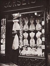 1900/63 Vintage 11x14 CORSET Lingerie Fashion Boutique Paris France EUGENE ATGET