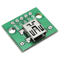 10Pcs Mini Usb To Dip Female Head Mini-5P Patch To Dip 2.54Mm Adapter Board N7D3